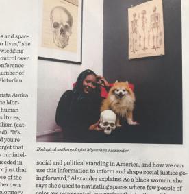 Posing in Bust Magazine- Photo by Damari McBride