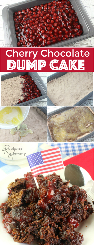 Cherry Chocolate Dump Cake - The Rockstar Mommy Recipe