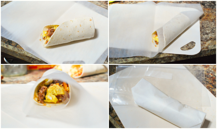 Freezer Friendly Breakfast Burrito - Step 4 - The Rockstar Mommy