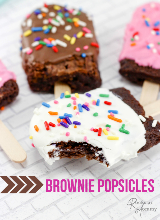 Brownie Popsicles - The Rockstar Mommy