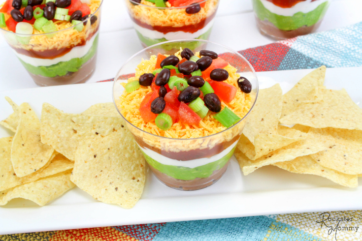 Mexican Bean Dip Cups Recipe - The Rockstar Mommy