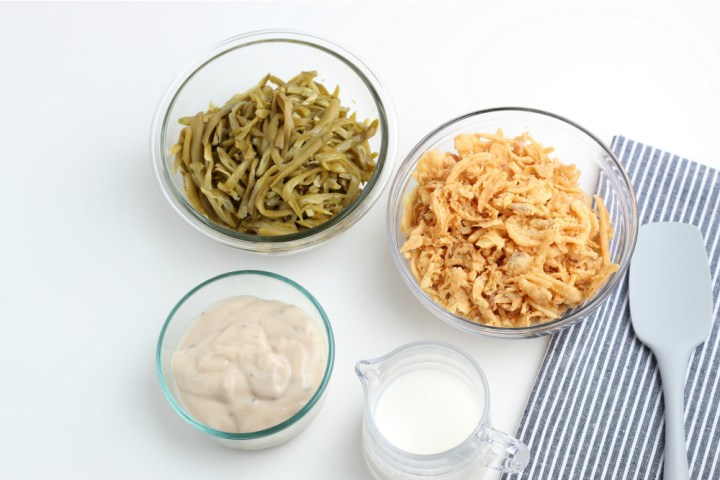 Ingredients for Easy Green Bean Casserole
