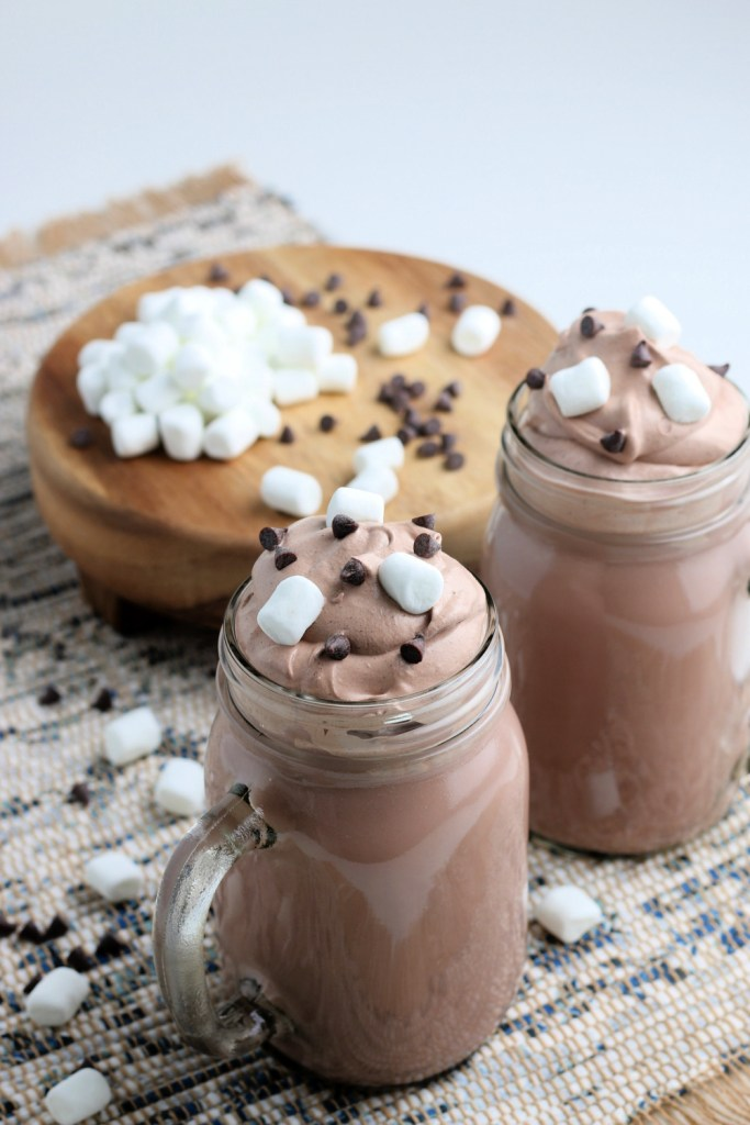 Two cups of Whipped Hot Chocolate