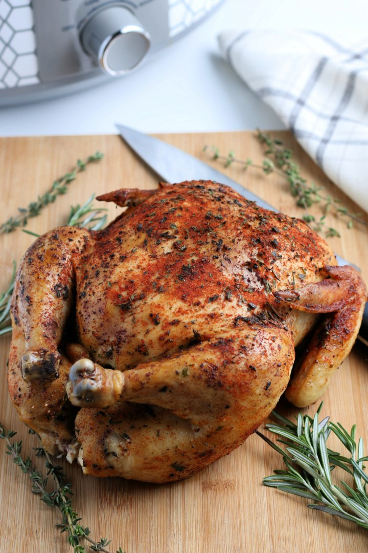 This Crockpot Whole Chicken is a super easy comforting meal, perfect for a lazy Sunday, a busy weeknight or as part of a holiday spread.