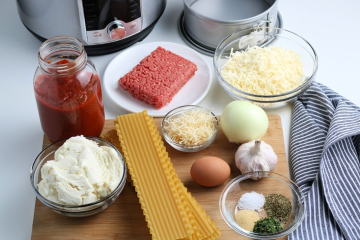 ingredients for instant pot lasagna