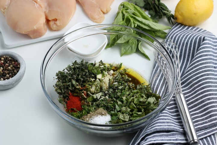 marinade ingredients in a mixing bowl