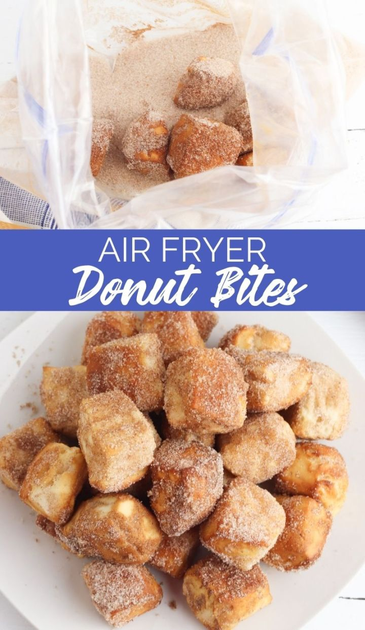 Donuts and coffee - could there be anything better than that?! Well, yes actually and it's these Air Fryer Donut Bites!
