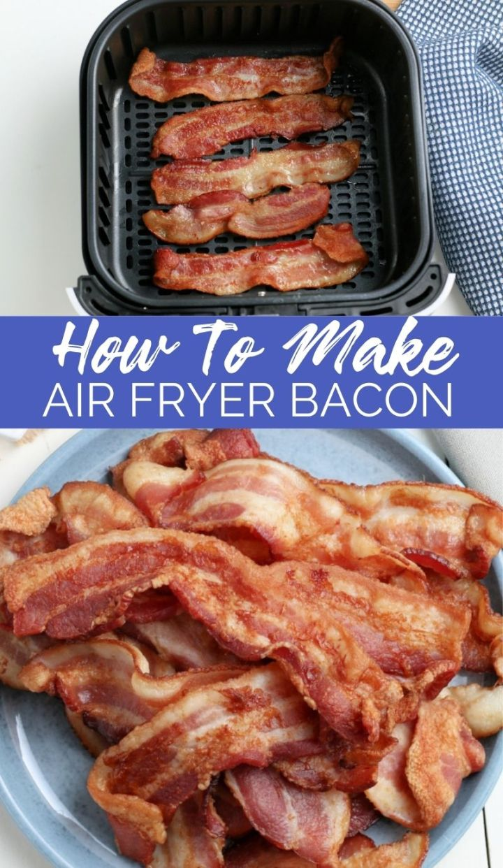 With this Crispy Air Fryer Bacon recipe, you just get perfectly cooked, crispy, delicious bacon in about ten minutes. No mess!