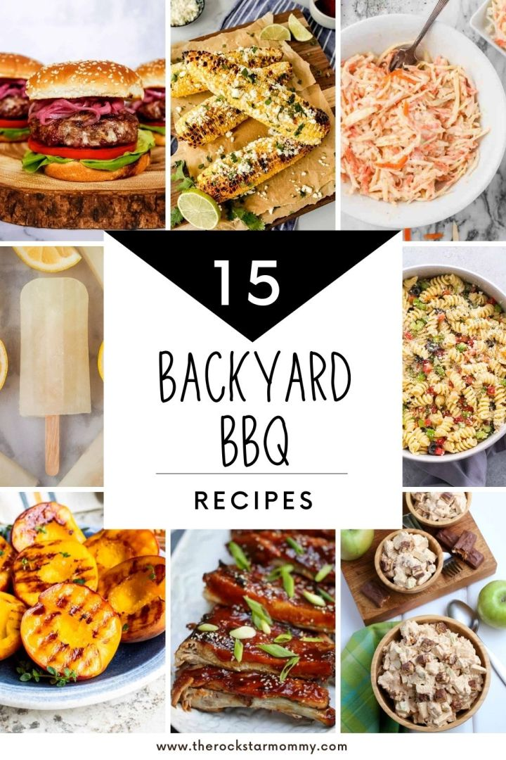 These 15 Backyard BBQ Recipes includes familiar favorites as well as some fun variations that will get you excited for some backyard chow!