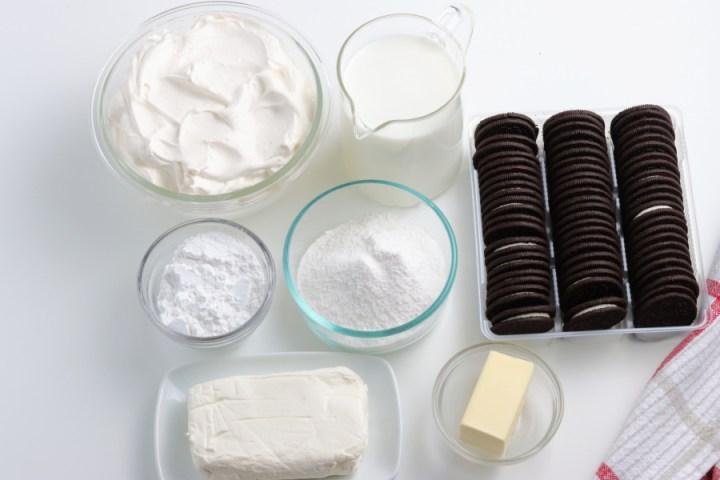 ingredients for oreo dirt cake