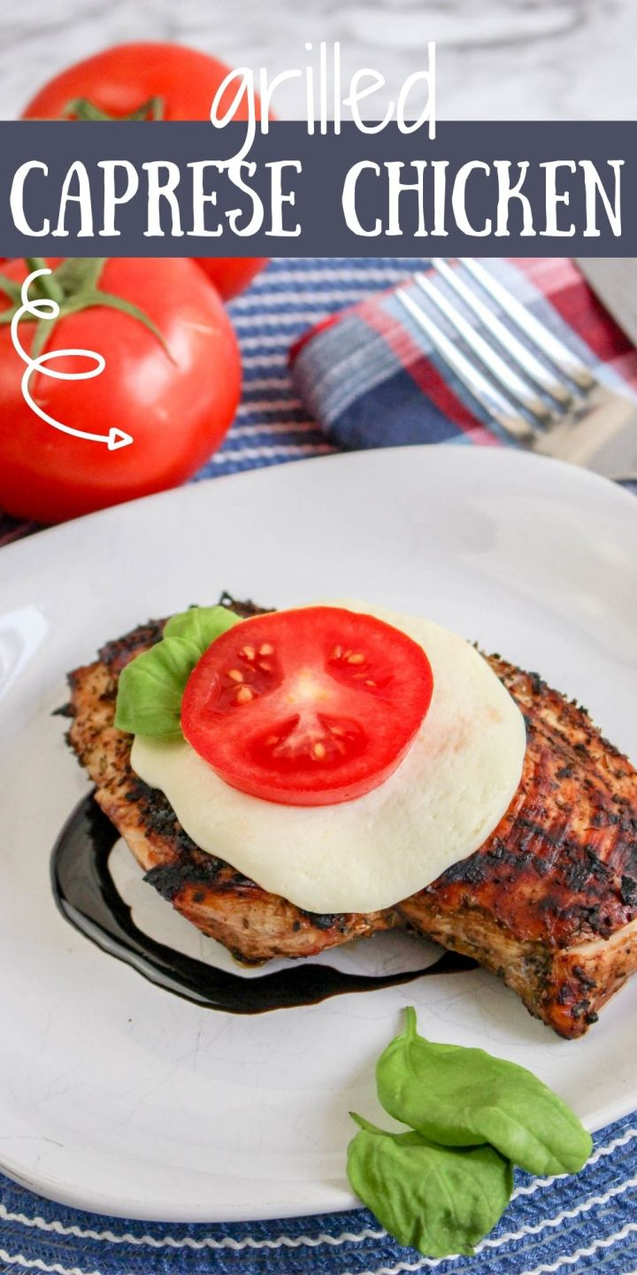 This Grilled Caprese Chicken is a delicious twist to the classic Italian Caprese salad, packed with the same mouth-watering flavors.