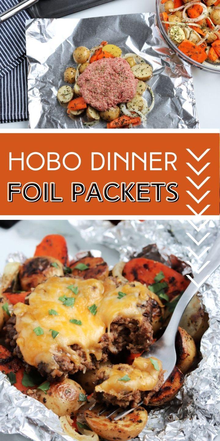 Cook these Hobo Dinner Foil Packets at your next summer BBQ, in the oven at home, or use them as convenient, no-mess camping meals.