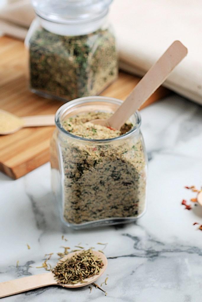 Homemade All Purpose Seasoning in a jar