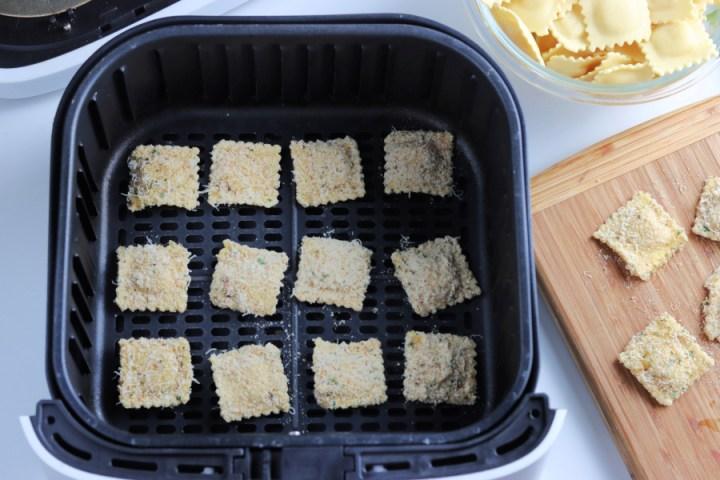 coated ravioli in air fryer