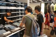 Shopping at Calvin Klein