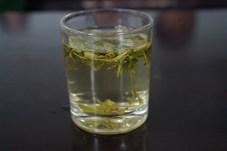 Steeping green tea