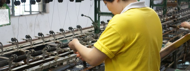 Touching Silkworms and Touring the Suzhou Silk Factory