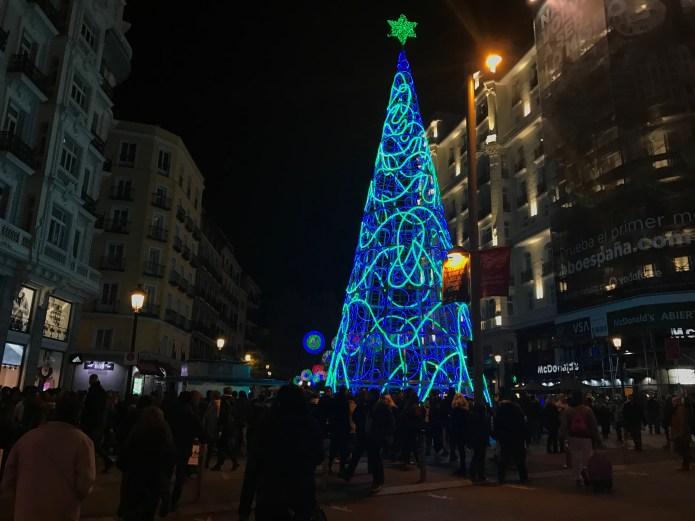 Madrid Christmas Tree