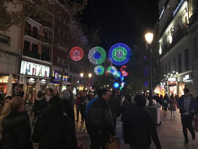Lights in Madrid Street