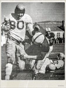 Charlie Mitchell played football at Coast Union High School in Cambria and went on to bump heads with some future NFL great while in college.