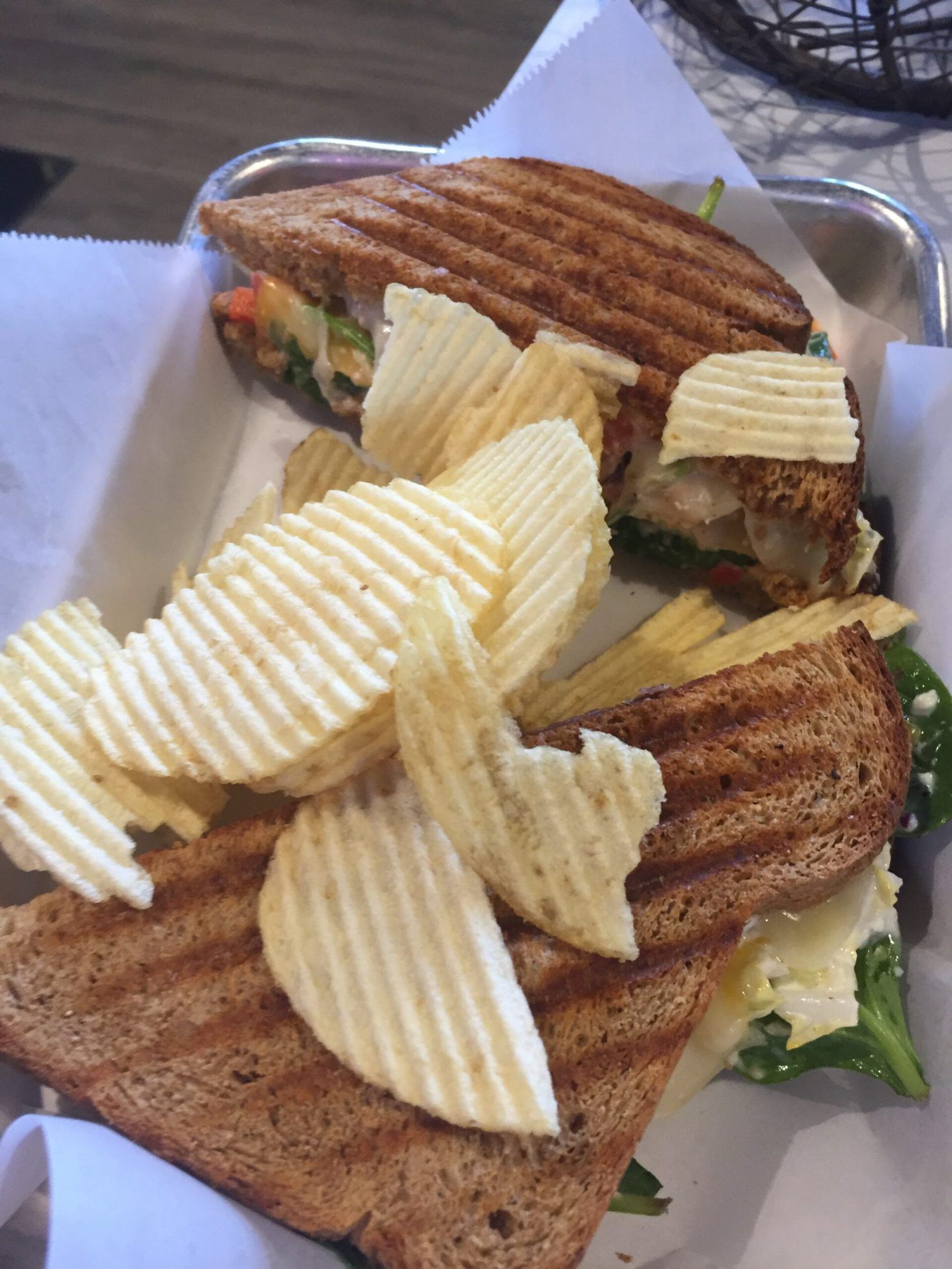 Panini with chips