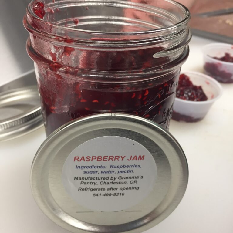 a jar of raspberry jam