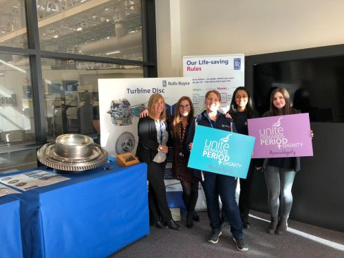 Rolls-Royce turbo charges period dignity campaign
