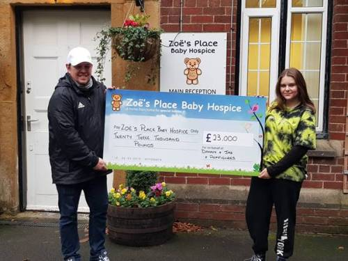 Father and daughter raise £23k for baby hospice