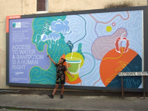 Trailblazing artist channels creative talents to raise awareness of climate change