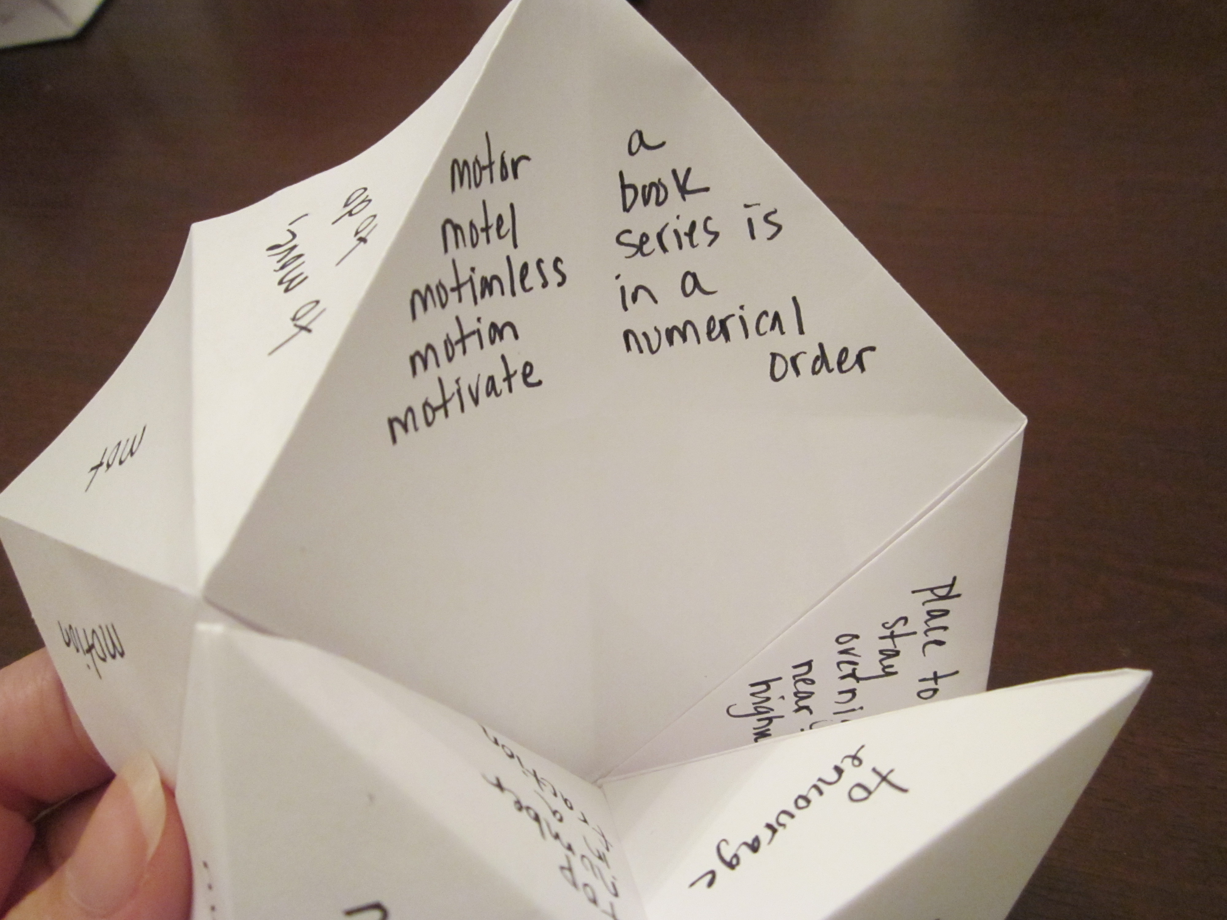 What To Write In A Paper Fortune Teller Cootie Catcher
