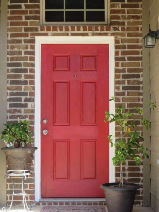 After: bright and cheerful front door