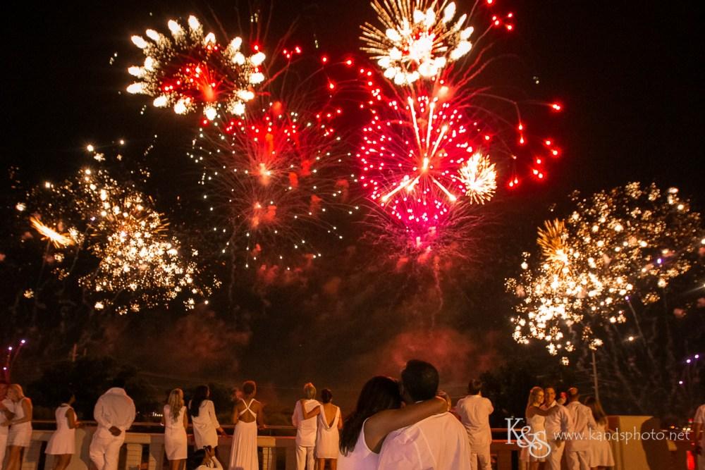 Diner en Blanc Fireworks