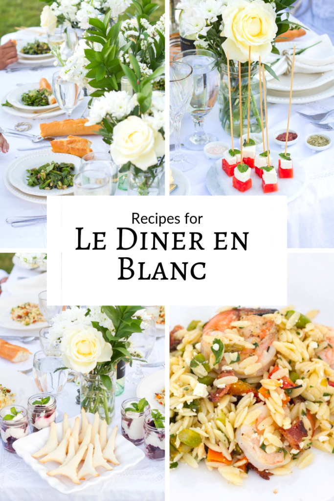 Diner en Blanc Recipes, Table Menu Ideas