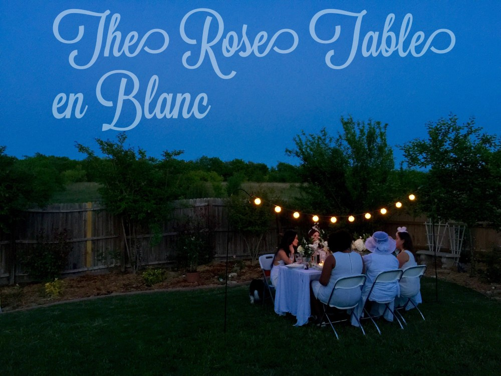 The Rose Table en Blanc: Diner en Blanc inspired dinner party