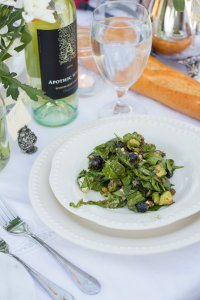 Bleu Cheese Blueberry Spinach Salad | The Rose Table
