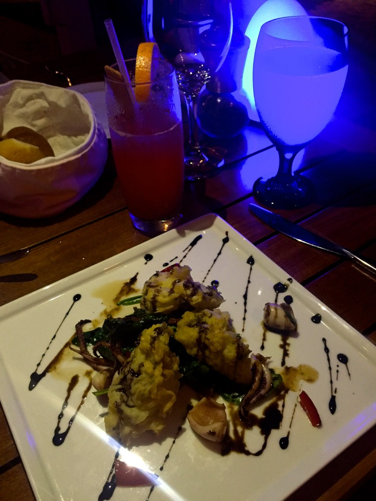 Cracked Conch and Sautéed Calamari Salad at Fire and Ice at Blue Haven Resort Turks and Caicos | The Rose Table
