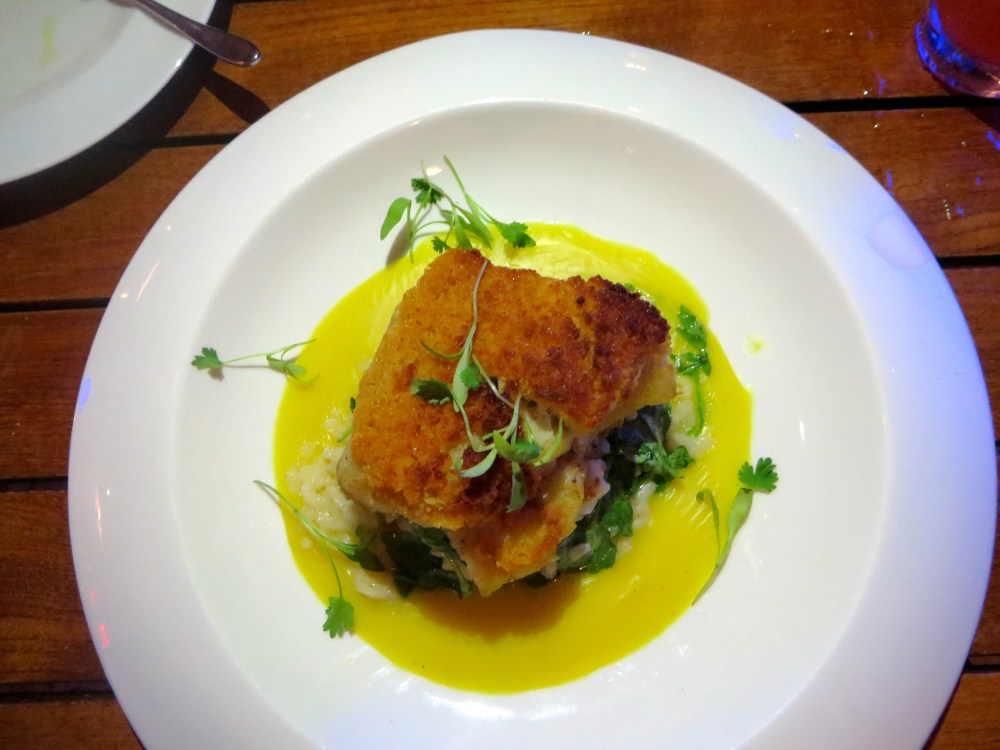 Grouper with Chorizo Crust at Fire and Ice at Blue Haven Resort Turks and Caicos | The Rose Table