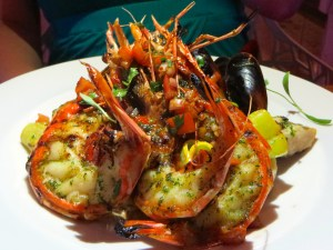 Grilled Seafood Parillada at Fire and Ice at Blue Haven Resort in Turks and Caicos | The Rose Table