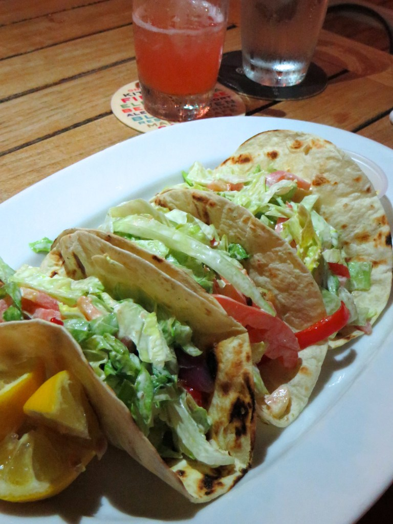 Fish Tacos at Salt Bar and Grill at Blue Haven Resort | The Rose Table