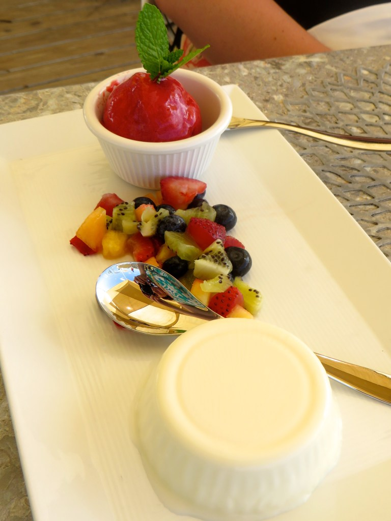 Coconut Panna Cotta at Asu on the Beach at Alexandra Resort in Turks and Caicos | The Rose Table