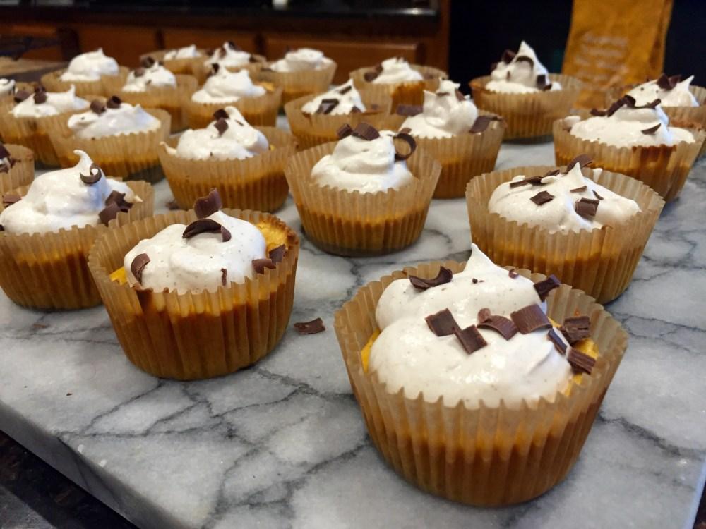Mini Pumpkin Oreo Cheesecakes with Cinnamon Whipped Cream