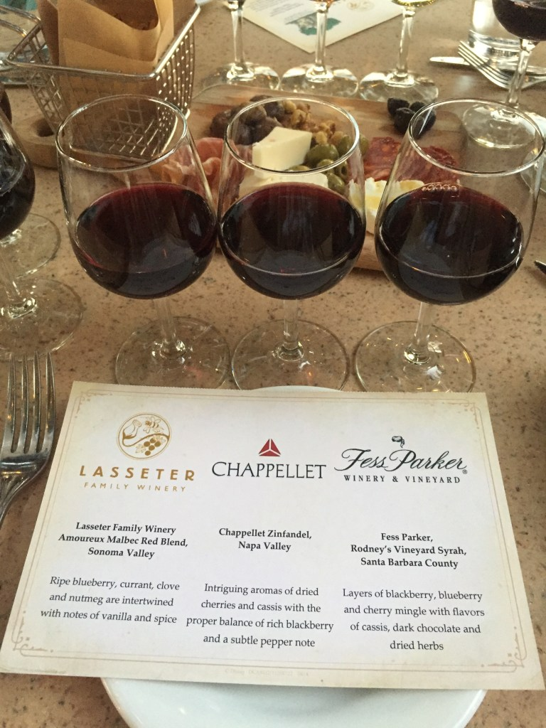 Wine Tasting at Alfresco Tasting Terrace in Disney's California Adventure   The Rose Table