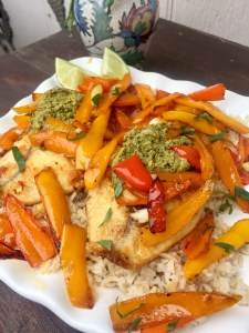 Bell Pepper Tilapia with Amira Basmati Rice   The Rose Table