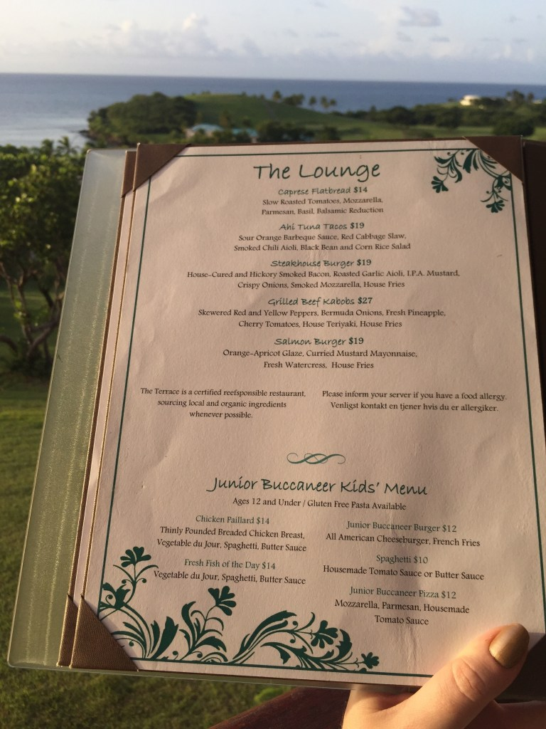 Buccaneer Lounge Menu | The Rose Table
