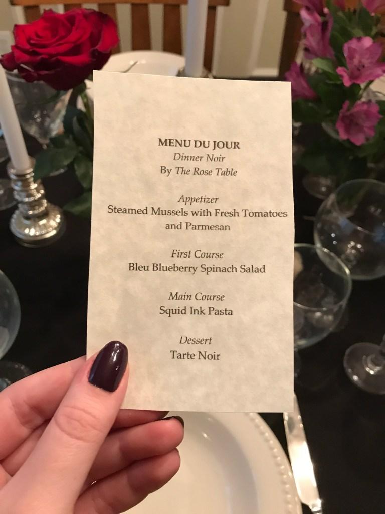 Dinner Noir, Adult Halloween Party Idea | The Rose Table