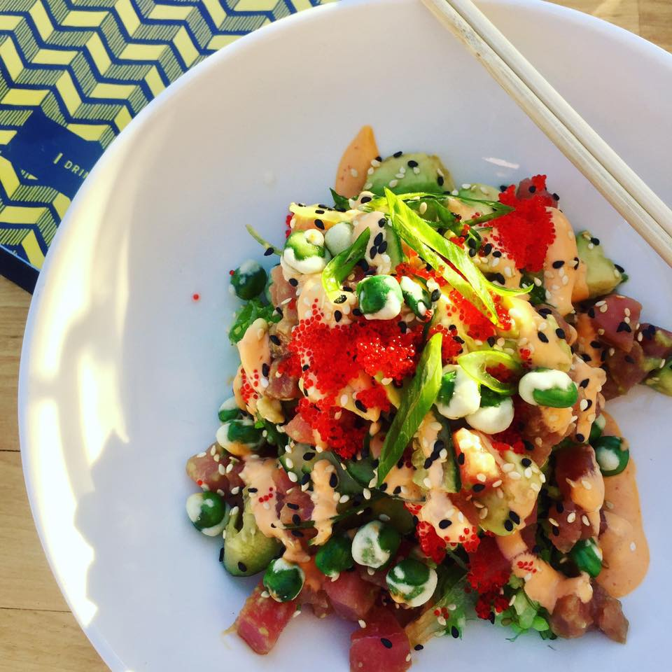 Tuna & Avocado Sushi Bowl at Standard Service, Rockwall Dining | The Rose Table
