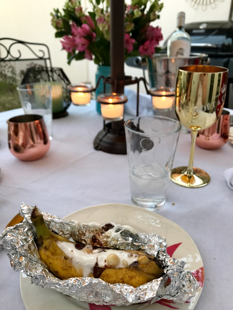 How to Grill Banana Boats, Campfire Dessert | The Rose Table