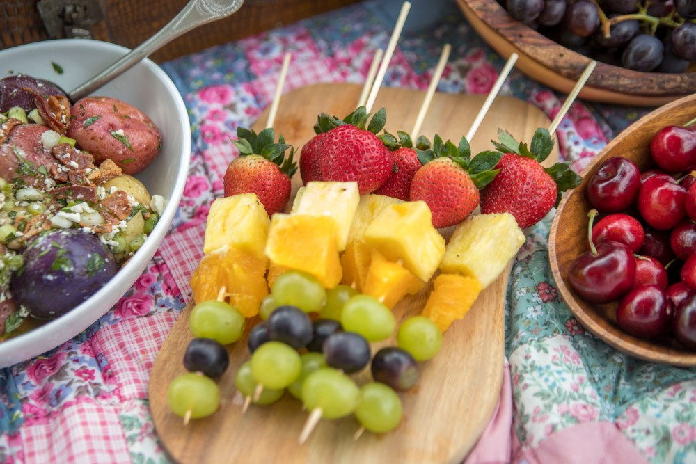 Fruit Skewers for a Picnic