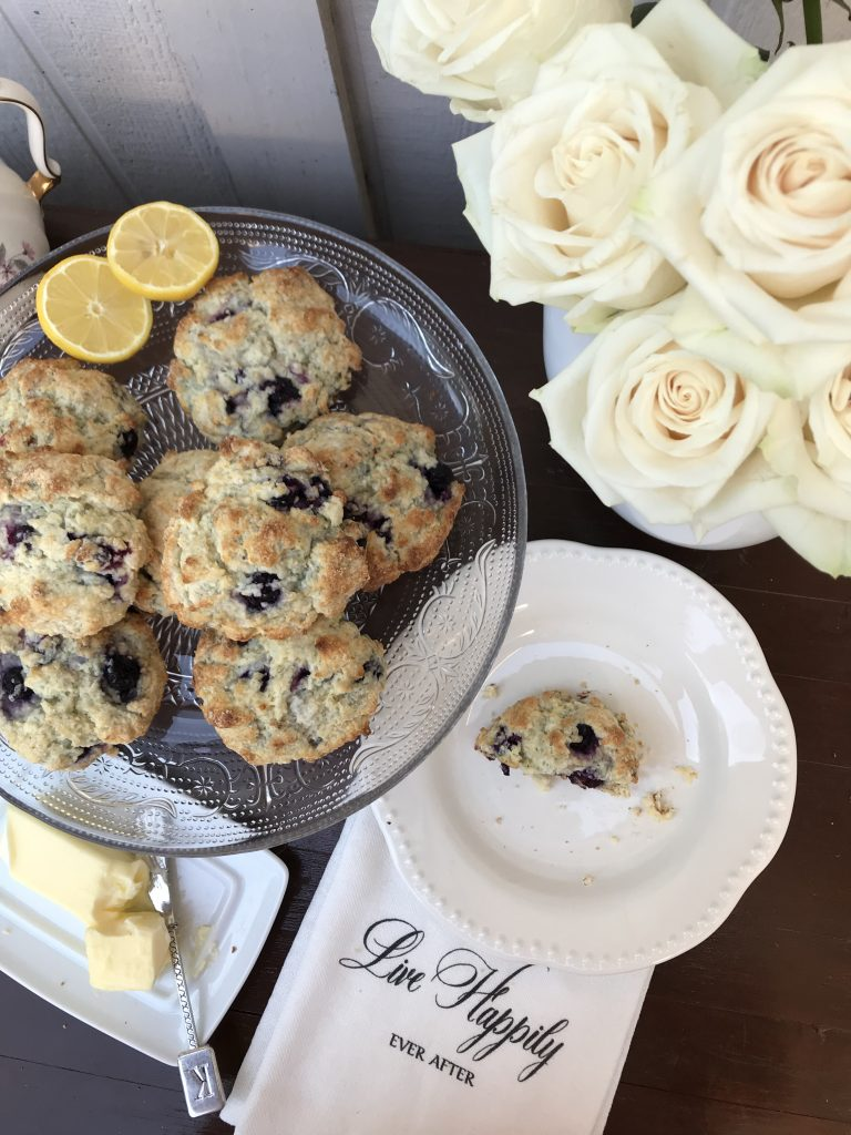 Blueberry Lemon Scones | The Rose Table