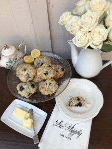 Blueberry Lemon Scones | The Rose Table